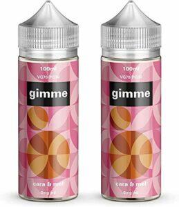 Double Pack – 100ml Caramel E-liquide, 70/30, Vape Juice, Sans nicotine ni tabac, Bouteille 120ml (Gimme E-Liquid)