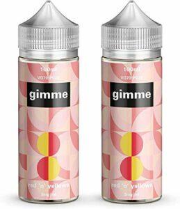 Double Pack – 100ml Rhubarbe & Crème Anglaise E-liquide, 70/30, Vape Juice, Sans nicotine ni tabac, Bouteille 120ml (Gimme E-Liquid)