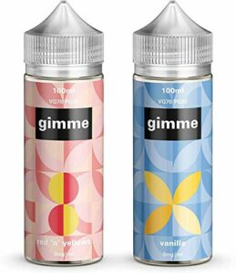 Double Pack – 100ml Rhubarbe & Crème Anglaise + Vanille E-liquide, 70/30, Vape Juice, Sans nicotine ni tabac, Bouteille 120ml (Gimme E-Liquid)