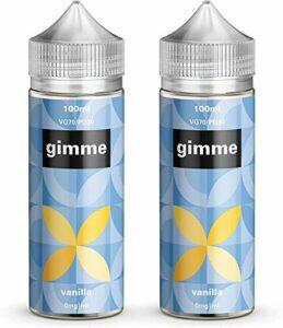 Double Pack – 100ml Vanille E-liquide, 70/30, Vape Juice, Sans nicotine ni tabac, Bouteille 120ml (Gimme E-Liquid)