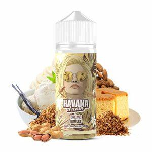 E-Liquid Crème Brûlée   100ML TPD   HAVANA DREAM   Sans Nicotine NI TABAC   E-Liquide pour Cigarettes Electroniques – E Vaper Liquids 70/30