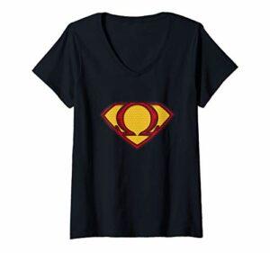 Femme Vape Superhero – Héroïque Sub Ohm Vaper T-Shirt avec Col en V