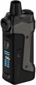 Geekvape Aegis Boost Pro Kit Sans-nicotine Kit de pod 100W 6ML alimenté par une seule batterie externe 18650 Compatible avec le système Pod/RDTA/réservoir
