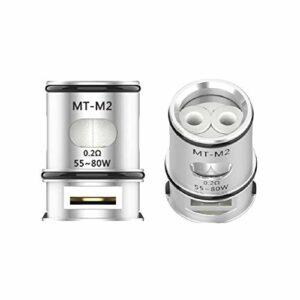 Lot de 3 résistances pour atomiseur VOOPOO MAAT Bobine Coil Mesh Maat d'origine (pas de nicotine) (M2 0,2 ohm)