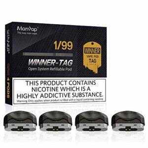 Manvap mini e zigarette starter set Original Verdampfer,kein Nikotin,4 Stücke (4 Stück-1)