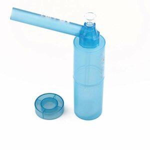 Paille à narguilé portable en verre pour narguilé à utiliser avec une bouteille à emporter (1 paquet, couleur aléatoire)