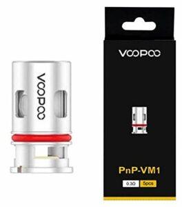 Résistance VOOPOO VINCI POD MOD X R Coil PnP Mesh bobine originale (pas de nicotine) (PnP-VM1 0,3 ohm : (32-40 W))