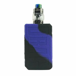 RUIYITECH ModShield Coque de protection en silicone pour Voopoo Drag 2 177W TC Mod Kit (Noir/Violet)