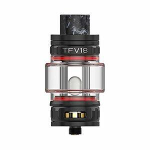 S-mok TFV18 Tank (noir) Atomiseur de cigarette électronique 7.5ML Fit TFV18 Mesh Dual Mesh RBA Coil Vaporizer pour Morph 2 MOD Vape, sans nicotine