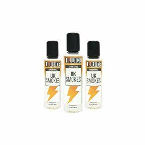 T Juice | UK Smokes | Arôme Shortfill 50ml pour E Cigarettes Vape | Sans Nicotine | Lot de 3 (L'emballage Peut Varier)