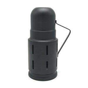 XIAOFANG Couvercle de Vent métallique Noire Noire pour chisha chiha narguile Accessoires Gadget lm-0983 (Color : Black)