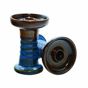Afoosoo Bol de chicha en argile de qualité supérieure – Avec vernis – Travail parfait avec système de gestion de la chaleur et film d'huile conique – Bonne étanchéité – BOWL7