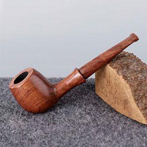 BILXXY Pipe à Fumer du Tabac, Pipe à Fumer en Bois Fait à la Main, Kit de Pipe Parfait pour débutant pour Tous Les Amateurs de Tabac, Femmes, Hommes