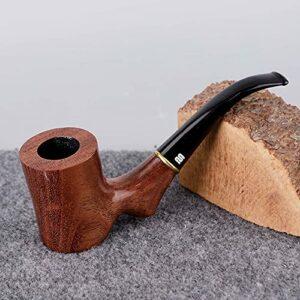 BILXXY Tuyau de Tabac détachable de personnalité, Tuyau de tabagisme en Bois de Sculpture à la Main Meilleur pour Les Femmes, Les Hommes Tous Les Amateurs de Fumeurs