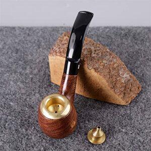 BILXXY Tuyau de Tabac détachable, Pipe à Fumer en Bois Pipe à Cigare à la Main sculptée pour Les Femmes, Les Hommes et Tous Les Fumeurs