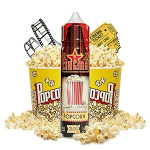 Cinema Range – Popcorn – Eco Vape E-Liquid | 50ML | Sans Nicotine NI TABAC | 70VG/30PG | E-Liquide pour Cigarettes Electroniques | E Vaper Liquids | E Cigarette | E Shisha