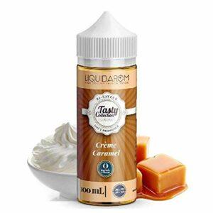 Crème Caramel 100ml – Tasty Collection – Sans tabac ni nicotine – Vente interdite aux personnes âgées au de moins de 18 ans – 0 MG – Genre : 80 ml et +