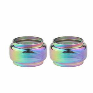 Denghui-ec 2pcs Rainbow Bubble Tube Glass Tube Fit pour Stick V9 TFV8 Baby V2 TFV Mini V2 TF2019 TF-RDTA Morph 219W Brit H-Pris Fit pour Mini Osub Plus Mag P3 (Couleur : Fit for TF RDTA 6ml)