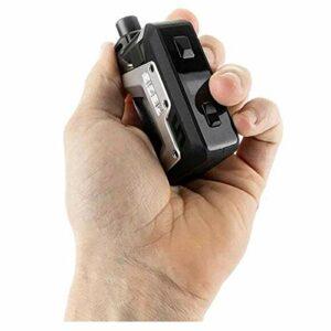 Geekvape Aegis Hero Kit | Pod de 4ml avec bobines de 0,4ohm/ 0,6ohm E-Cigs 200mAh intégré dans un vaporisateur à batterie (Argent) Sans nicotine