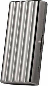 JIANGCJ Mode Boîtier de Cigarette de Style de Mode boîtier de Cigarette Portable en Acier Inoxydable Ultra-Mince résistant à l'acier Inoxydable, accueillir des Cigarettes de 10