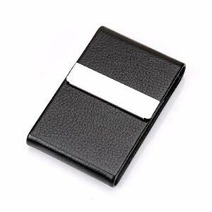 LIXUDECO Humidificateur 1 pc Cigarette boîte à Fumer Accessoires Cigarette coccar Cigare Stockage en Acier Inoxydable Cordons de Carte de Tabac (Color : Black)