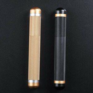 LIXUDECO Humidificateur 2 pcs/lot métal Tube de Cigare en Aluminium de Voyage en Aluminium de Voyage d'humidité Porte-cigares pour 1 170 * 22mm Gold Gold Noir (Color : Mixed)