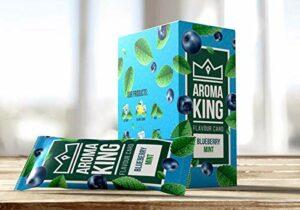 Lot de 25 cartes aromatiques pour cigarettes – 10 arômes au choix (25 feuilles de myrtille menthe)
