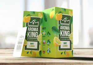 Lot de 25 cartes aromatiques pour cigarettes – 10 arômes au choix (25 x citron menthe)