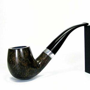 LYQZ Briar Tuyau De Tabac en Bois for Hommes Vintage Portable Filtre De Tuyau en Bois Massif Accessoires De Fumer avec Boîte-Cadeau (Color : B)