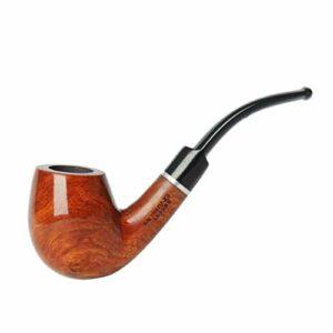 LYQZ Pipe à Tabac à Fumer fabriquée à la Main en Bois de Poirier, Longueur 138 mm conçue for Les Fumeurs