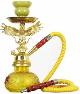 Mr. Hao Narguilé Shisha Narghile Pfeife Mit 1 Schlauch, Party Smoking Set Tabakzubehör Kein Nikotin Geeignet Für, Ktv, Bar,Yellow