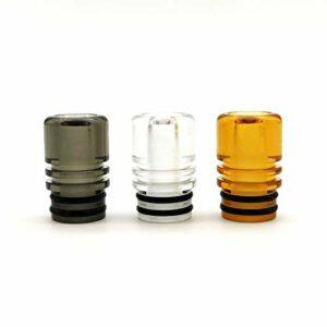 Nouveau 510drip pointe bouche aspiration atomiseur 510 porte-cigarette T2 510tip anti-brûlure buse goutte à goutte accessoires d'atomiseur (Transparent)