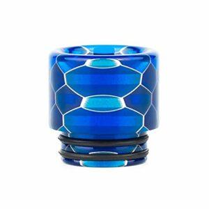 Pang-qingtian 1pcs 810 Résine Tube Goutte à Goutte de Serpent Style de Serpent Convient à la TFV8 Big Baby TFV12 Prince Fit pour Ijust 3 Kylin Fit pour Mini RTA, etc. (Couleur : Blue)