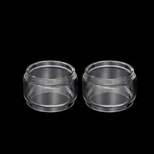 Pang-qingtian 2pcs Tube de Verre à Bulles Ajustez pour Vandy Vape Mesh Fit pour Kensei 24 RTA Pyrex Fat Glass Tank (Taille : Fit for Kensei 24 RTA 4ML)