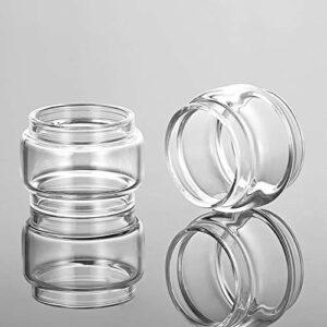 Pang-qingtian Tube de Verre à Bulles 2 pcs Fit pour Kanger sous-Banque Mini-C 5ml Ajustement pour Subox Mini-C Ajuster pour Vola Tank Pyrex Glass Tank (Taille : Fit for Subtank Mini c 5ml)