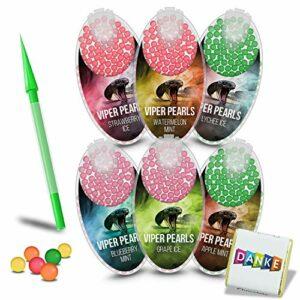 Produktname Viper Pearl Lot de 600 capsules de menthol de qualité supérieure | capsules aromatiques | filtre à clic | filtre à menthol | filtre à clic | filtre à cigarette | goût fruit mix