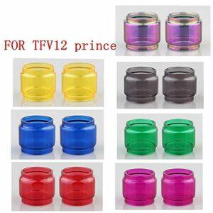 RUIYITECH Lot de 2 tubes en verre pour réservoir à ampoule SMOK TFV12 Prince (violet)