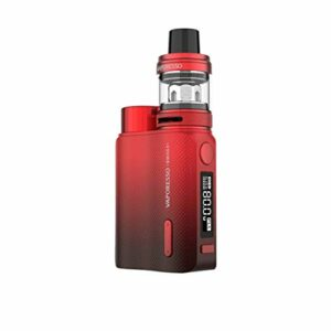 Vaporesso Swag 2 80W Kit| 18650 TC Box Mod with 3.5ml NRG PE Tank GT Ccell & Mesh Coil AXON Chip (Red) Sans nicotine