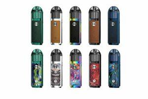 Authentique Lost Vape Lyra 1000mAh 20W Pod Vape Système de vaporisation à mailles Bobine régulière sans nicotine ni tabac Conforme TPD (cuir vert)