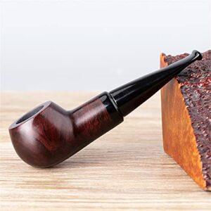BILXXY Petite Pipe à Fumer du Tabac en Bois, Pipe détachable portative Sculptant Le kit de Pipe Parfait pour débutant pour Tous Les Amateurs de Tabac