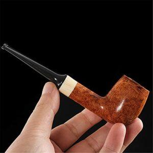 BILXXY Pipe à Fumer du Tabac en Bois Massif, Pipe à Fumer détachable Pipe à Cigarette Fait à la Main sculptée pour Les Femmes, Les Hommes et Tous Les Fumeurs