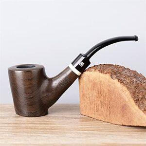 BILXXY Pipes à Tabac en Bois rétro, Pipe à Fumer du Tabac sculptée à la Main Pipe à Cigarette Amovible pour Femmes, Hommes et Tous Les Amateurs de Tabac