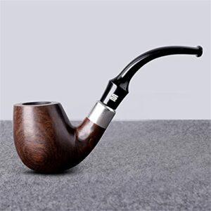 BILXXY Tuyau de Tabac en Bois Massif, Tuyau de Tabac détachable pour Homme, Tuyau de Cigarette à Cigare Fait à la Main sculpté pour Tous Les Fumeurs