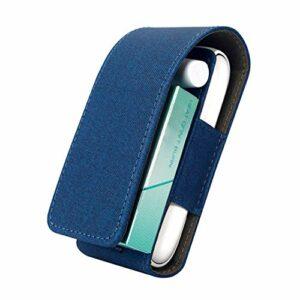 Coque IQOS® 3, 3 duo, étui pour cigarette électronique iqos® avec crochet et 3 emplacements pour accessoires de coque dans différentes couleurs (bleu)