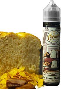 E liquide premium 50ml»Blanc Brioché» (corn flakes, brioche, caramel beurre salé)