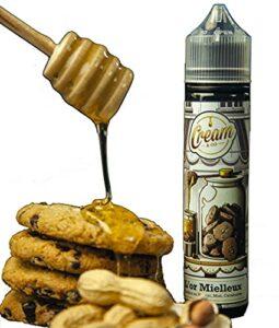 E Liquide premium»L'Or Mielleux» (cookies au nougat, miel, cacahuètes grillées)