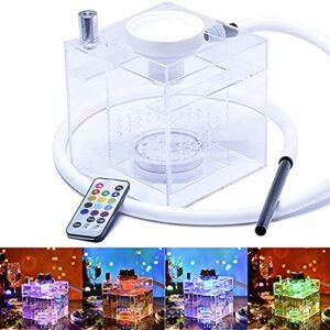 HHORB Ensemble De Narguilé avec Lumière LED (Télécommande Possible) Kit De Narguilé en Acrylique, avec Bol en Silicone + Tuyau De Narguilé Et Autres Accessoires Nécessaires