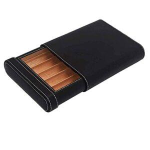 JIANGCJ Mode Coque de Cigarette de Surface en Cuir Coffre-Cadeau pour Hommes – Boîte d'humidification de boîte de Cigare de Cigare Portable boîte à cigailles