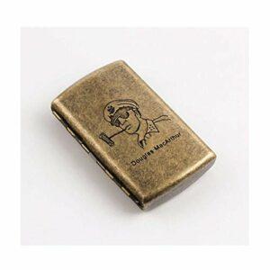 LONGWDS Etui à cigares Cigarette Box Mini Cas simple Rétro cigarette portable personnalité créative hommes et les femmes en acier inoxydable étui à cigarettes Creative cadeau peut accueillir 12 cigare