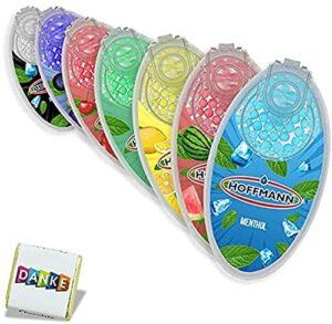 Lot de 7 capsules aromatiques pour cigarettes – Explosion de perles – Filtre à cigarette – Flavour – 100 capsules – 7 variétés – Avec chocolat au design propre.